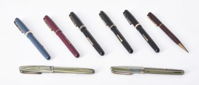 Waterman's, a collection of seven 1940s fountain pens