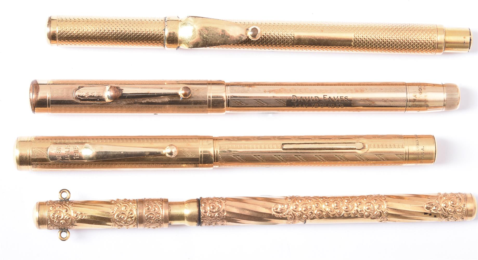 Mabie Todd & Co., Swan, a gilt metal fountain pen - Image 4 of 4