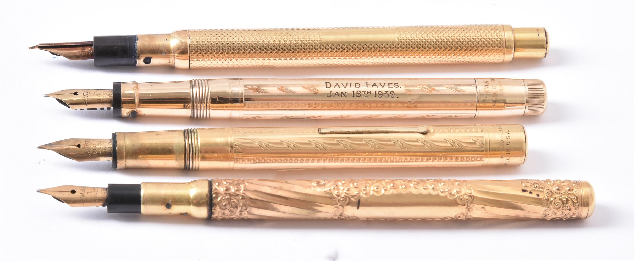 Mabie Todd & Co., Swan, a gilt metal fountain pen - Image 2 of 4