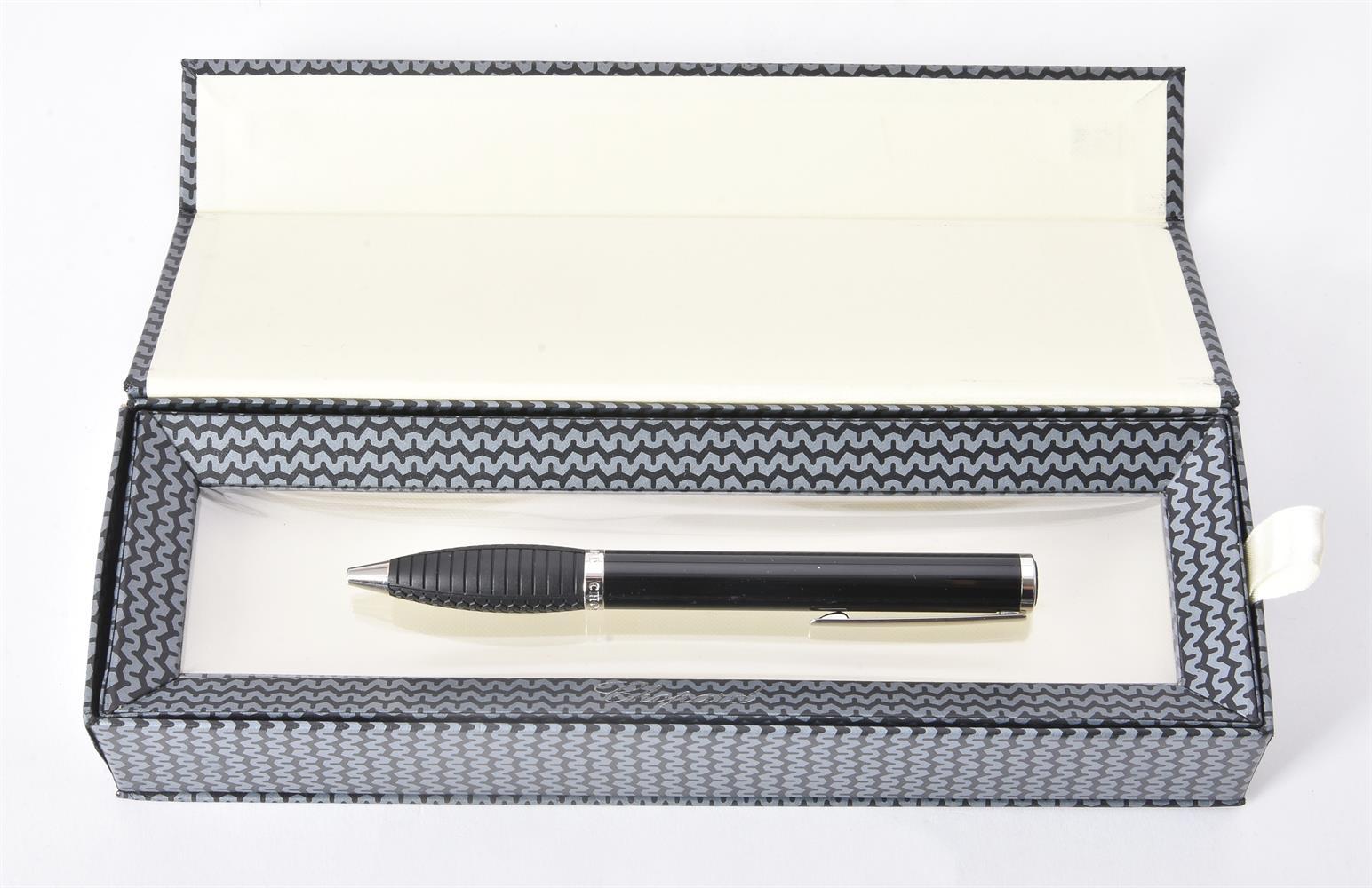 Chopard, Racing, ref. 95013-0001, a black resin and palladium ballpoint pen