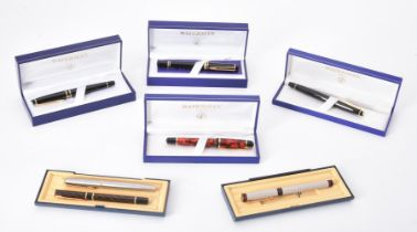 Waterman, a collection of various fountain pens