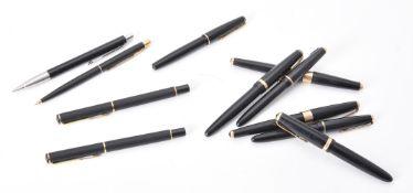 Parker, a collection of black pens