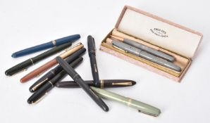 Mabie Todd & Co., Swan, a collection of vintage fountain pens