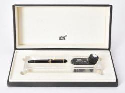 Montblanc, 149 UNICEF Edition by Helmut Jahn, a black fountain pen