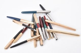 A collection of Parker pens