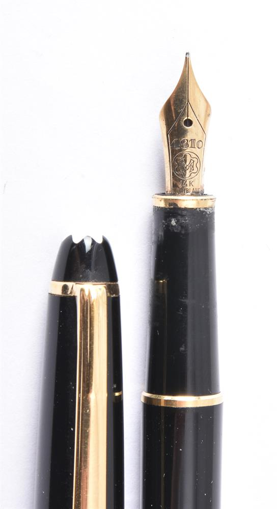 Montblanc, Meisterstuck, a black fountain pen - Image 3 of 3