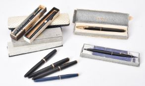 Parker, various fountain pens