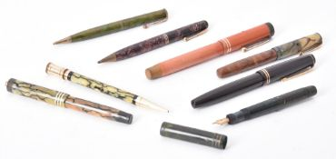 Parker, a collection of vintage fountain pens