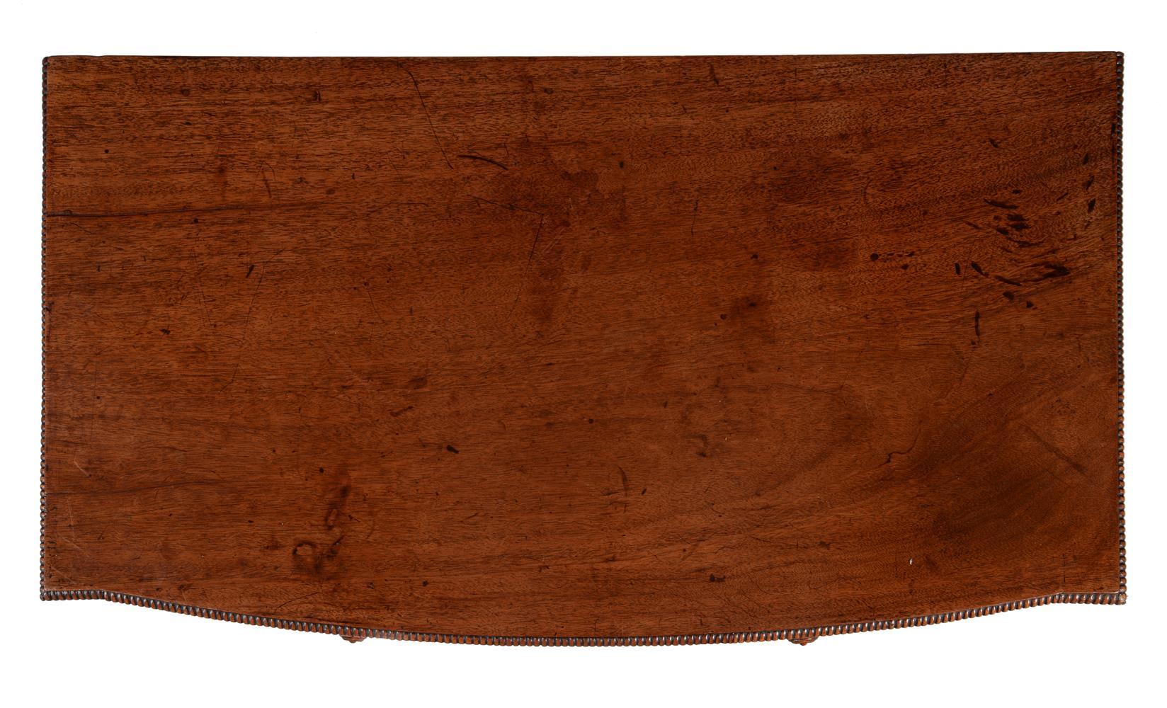 A George IV mahogany bowfront side table - Image 2 of 4