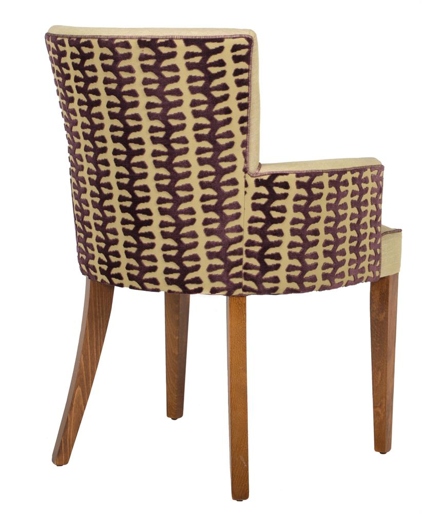 A set of fourteen beech and upholstered armchairs - Image 3 of 3