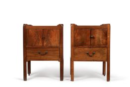 A matched pair of George III night commodes