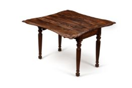 Y A rosewood Pembroke table