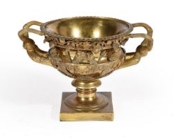 A gilt-metal and bronze model of the Warwick vase