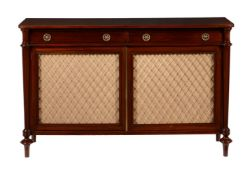 A mahogany side cabinet in Regency style