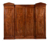 A William IV mahogany compactum wardrobe