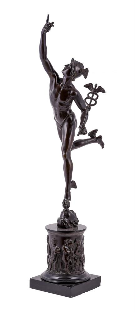 A bronze patinated model of Mercury