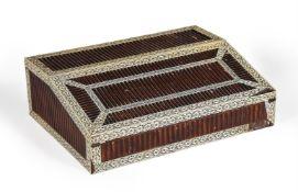 Y A Visakhapatnam (Vizagapatam) sandalwood and engraved ivory writing slope
