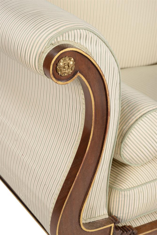 A mahogany and parcel gilt sofa - Image 4 of 6