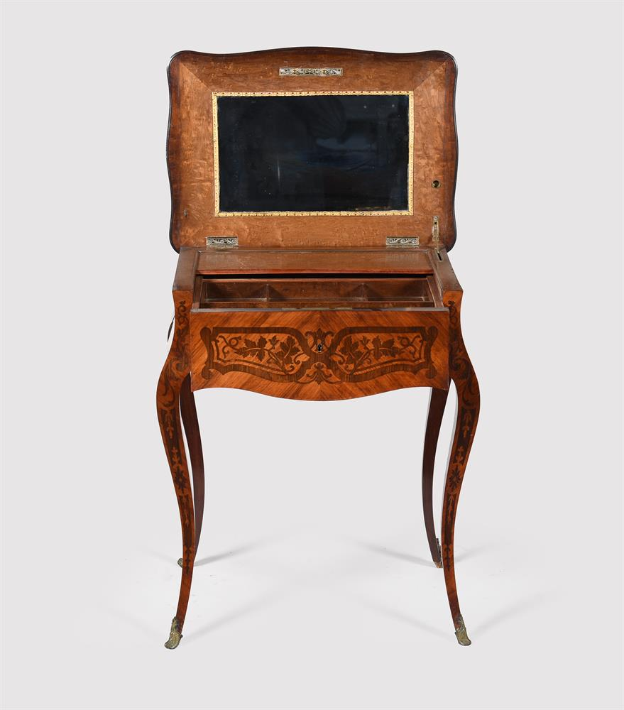 Y A French tulipwood and rosewood marquetry side table - Image 3 of 5