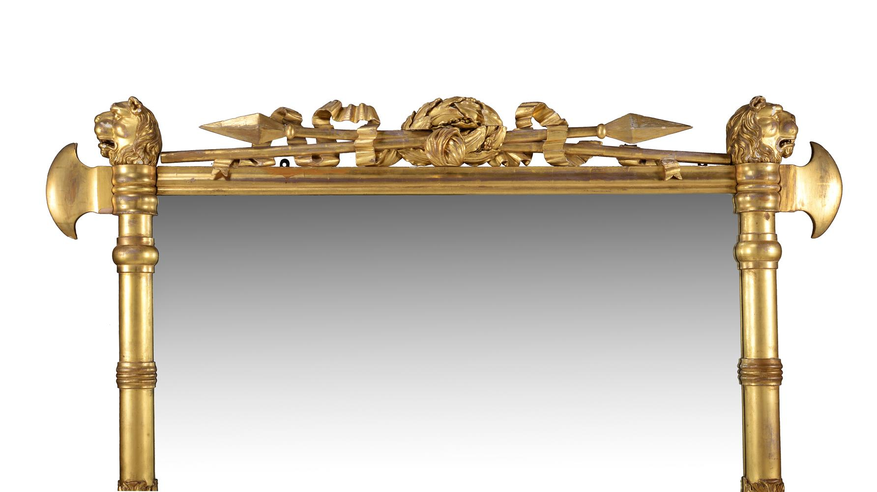 A George IV giltwood overmantel wall mirror - Image 2 of 4