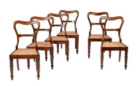 Y A set of six George IV rosewood dining chairs