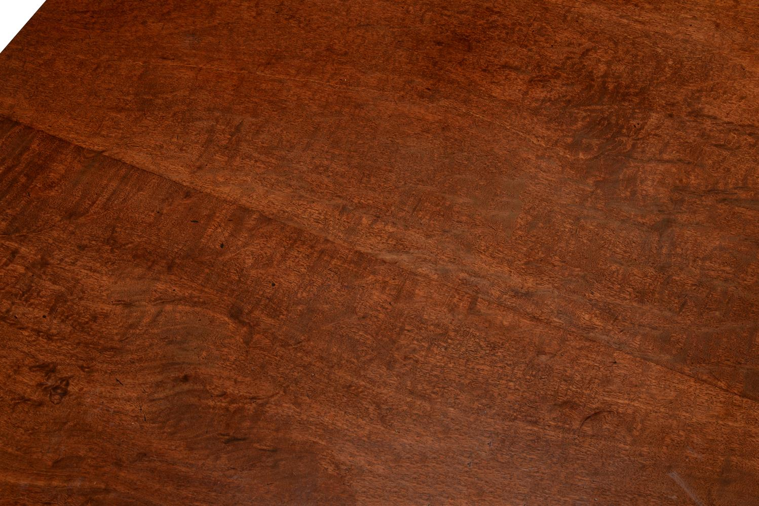 A mahogany twin pedestal D-end dining table - Image 3 of 5