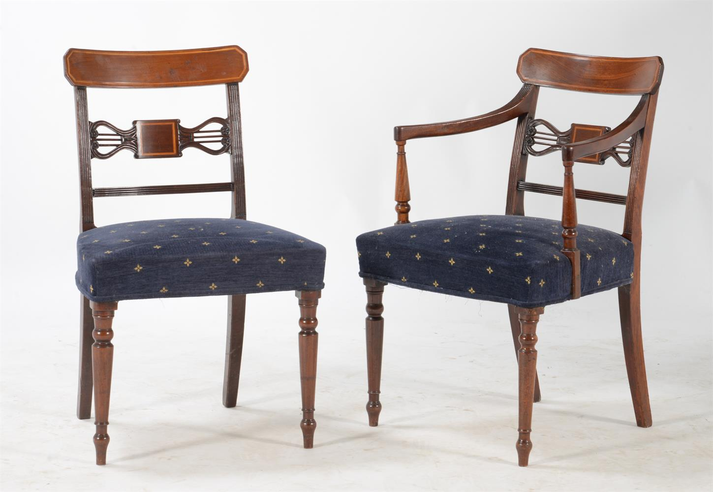 A set of eight George III mahogany dining chairs - Image 2 of 2