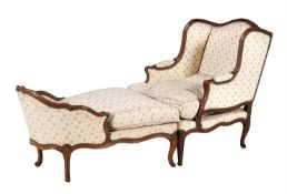 A Louis XV beechwood duchesse brisée