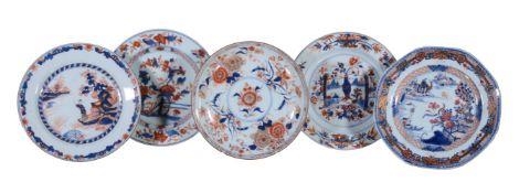 Two Chinese Imari plates