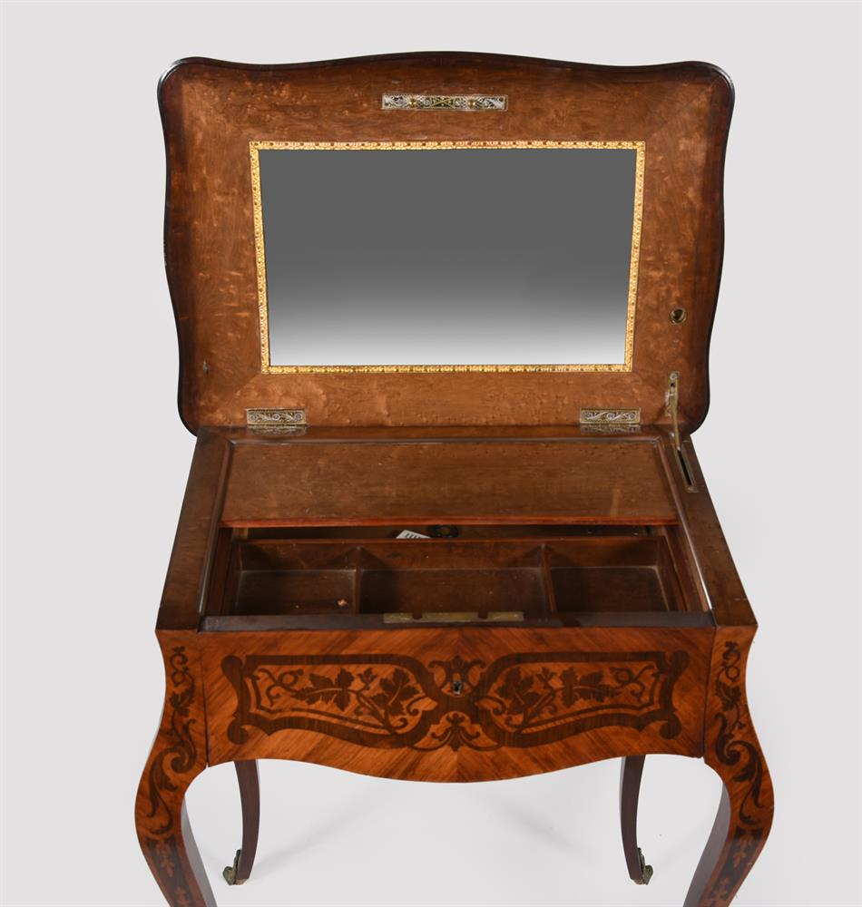 Y A French tulipwood and rosewood marquetry side table - Image 4 of 5