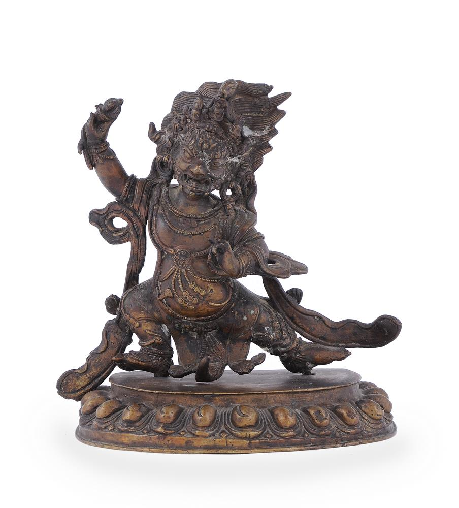 A Tibetan bronze figure of Vajrapani