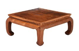 A Chinese hardwood low coffee table
