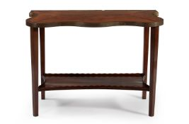 Y A George III satinwood and rosewood banded table top