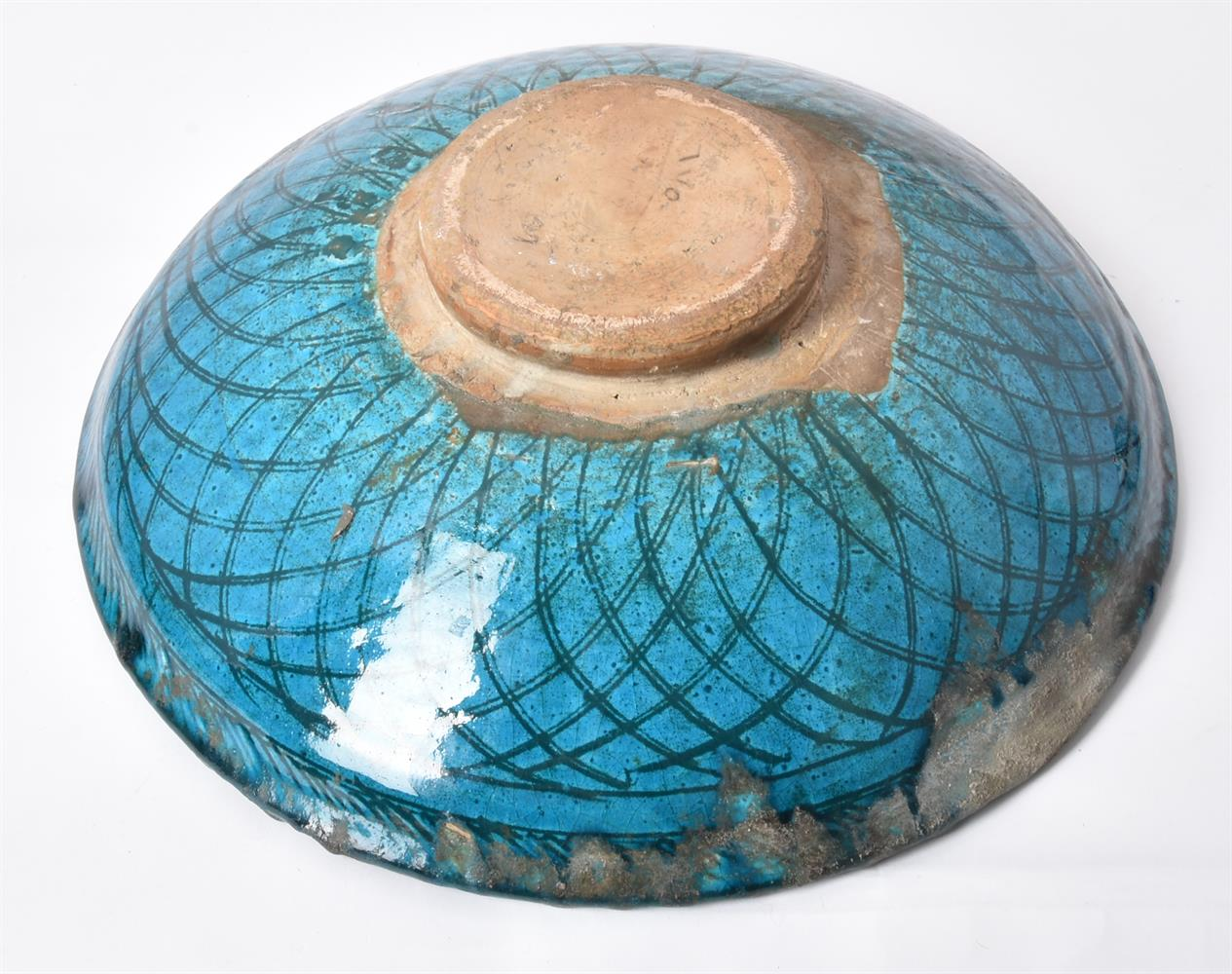 Two underglaze painted earthenware dishes - Image 6 of 9