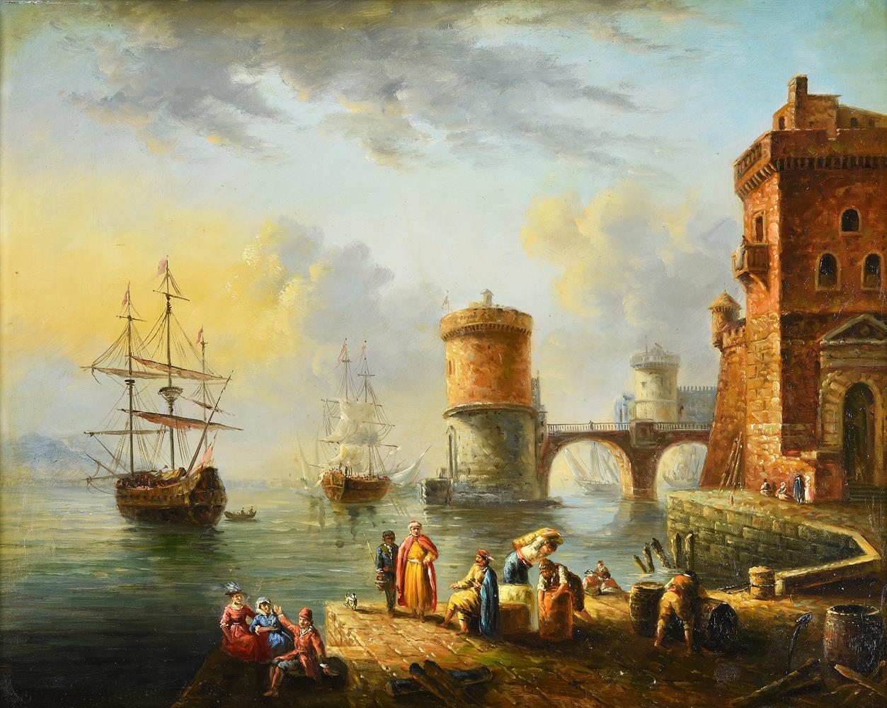 Manner of Anton Schranz Jnr, Harbour scene