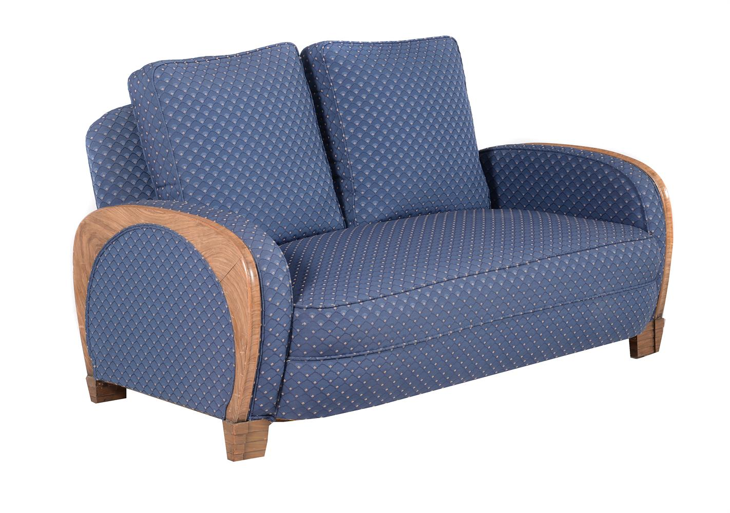Epstein: a Cloud series walnut suite of seat furniture - Image 4 of 6