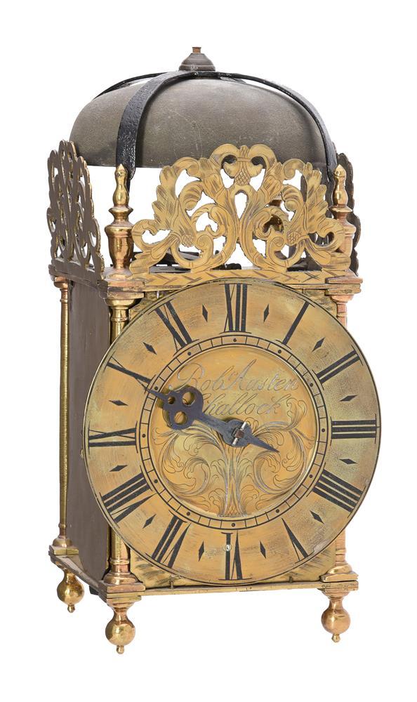 A George III brass lantern clock - Image 2 of 3