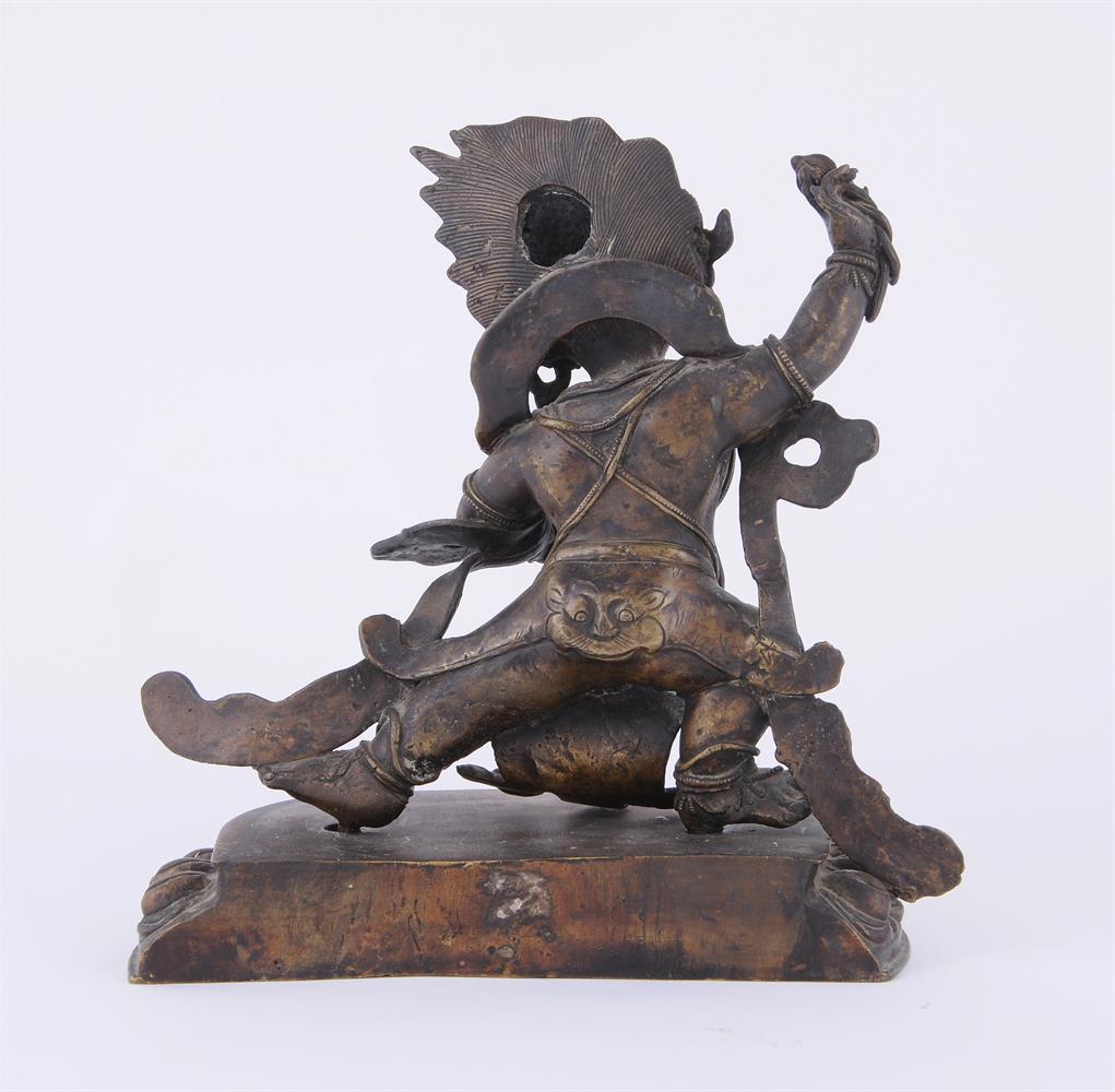 A Tibetan bronze figure of Vajrapani - Image 4 of 6