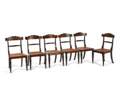 Y A set of eight George IV rosewood dining chairs
