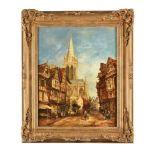 John Henry Foley (Irish 1818-1874), A Normandy street scene
