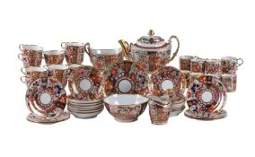 A Worcester (Barr) 'Japan' pattern part tea and coffee service