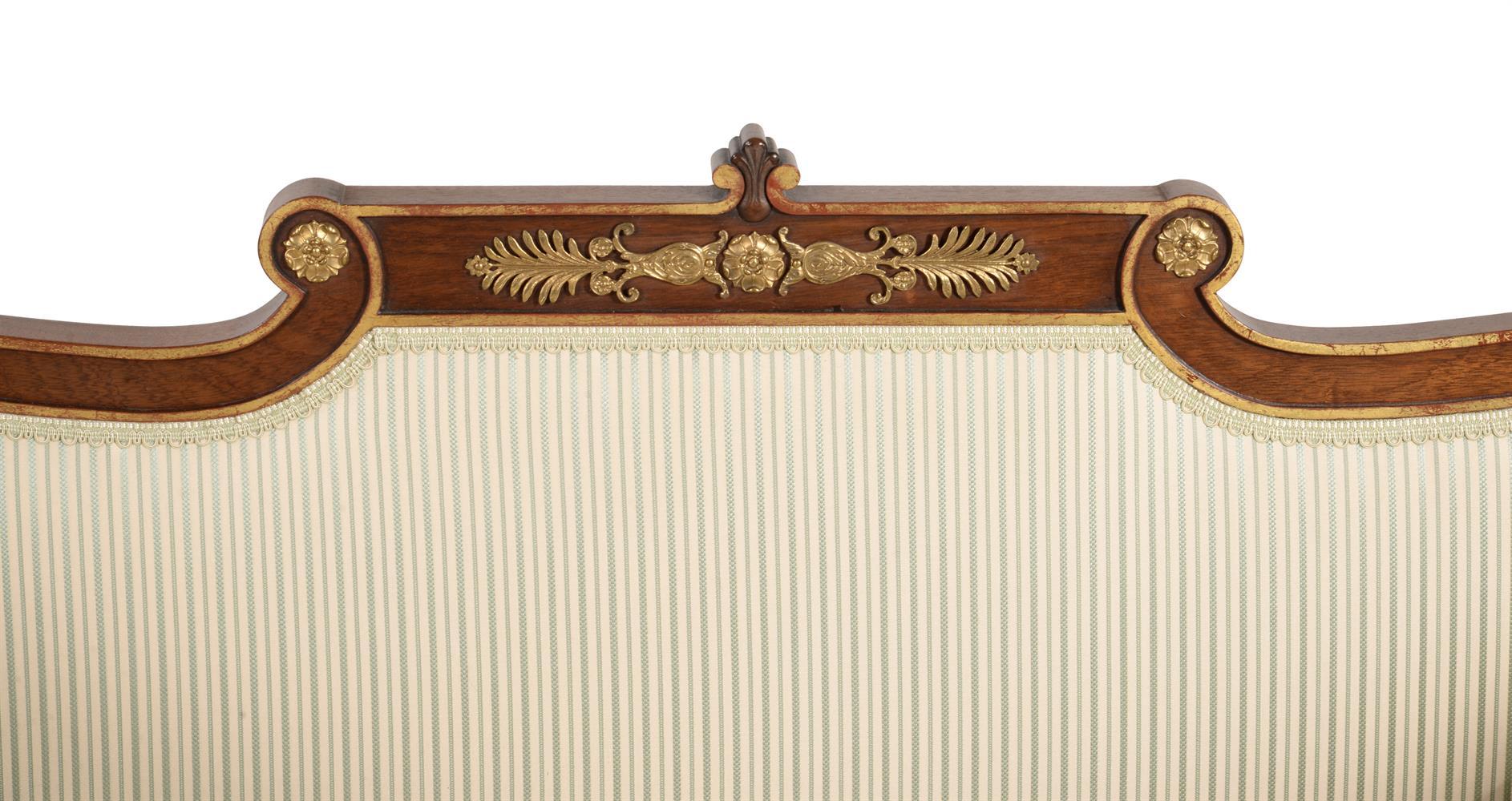 A mahogany and parcel gilt sofa - Image 3 of 6