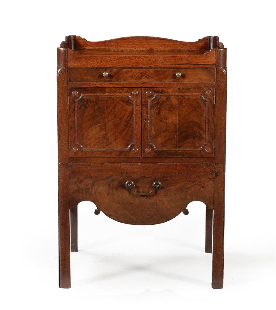 A George III mahogany night commode