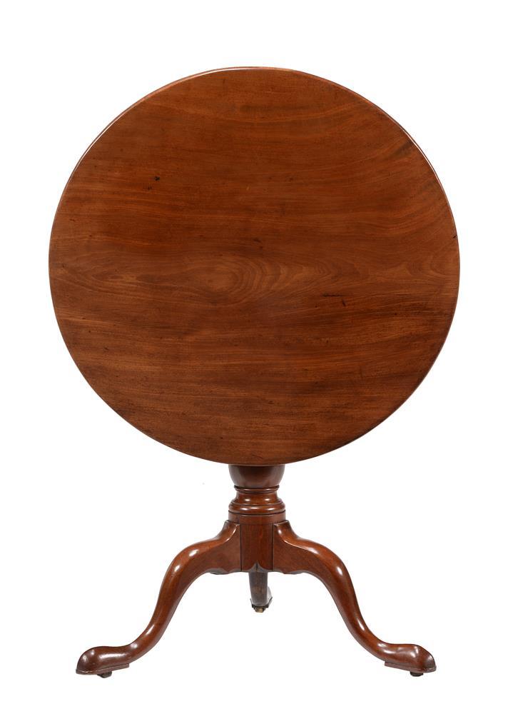 A George III mahogany tripod table - Image 2 of 2