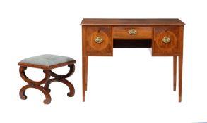 Y A George III mahogany dressing table