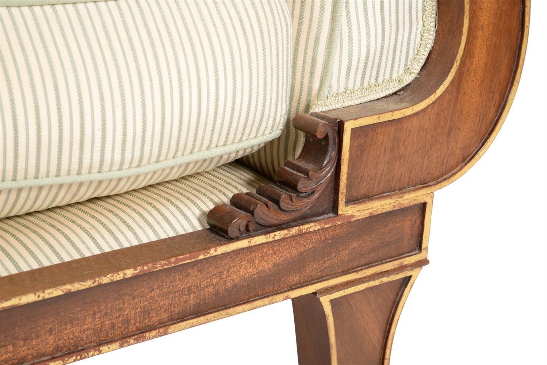 A mahogany and parcel gilt sofa - Image 5 of 6
