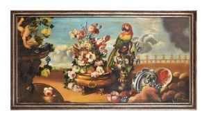 Guiliano Accordi (20th century), Still life of flowers and fruit