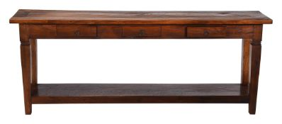 A Chinese hardwood console table