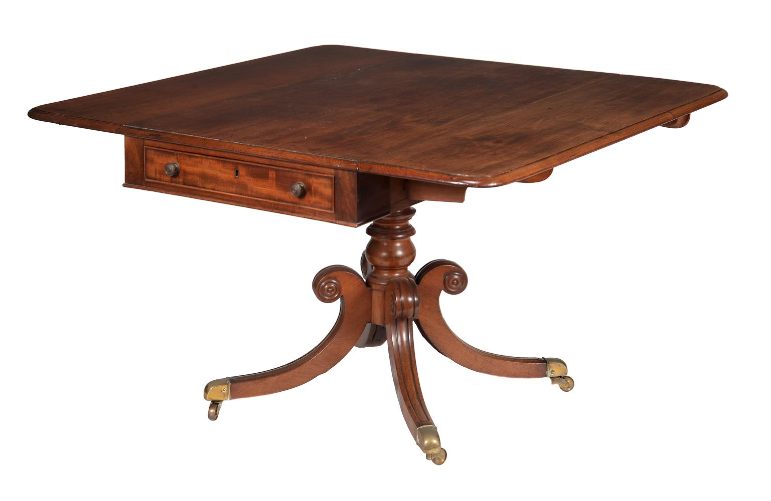 A Regency mahogany sofa table - Image 2 of 2