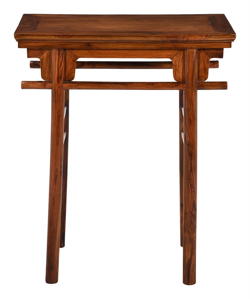 A small Chinese hardwood side table